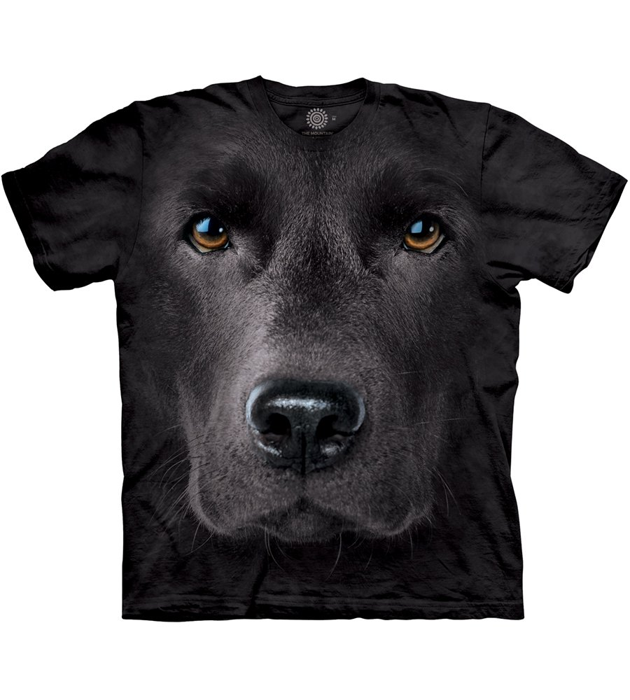 The Mountain Men's Black Lab Face T-Shirt Getting Fit 103255