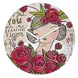 Deny Designs Cori Dantini, Dear Sweet Girl , Round Clock, Round, 12''