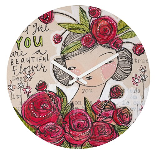 Deny Designs Cori Dantini, Dear Sweet Girl , Round Clock, Round, 12'' by Deny Designs