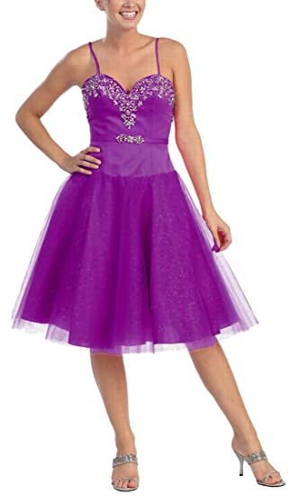 Available Celebrity Prom Gown Formal Evening Dress Short Cocktail Abikleid Wedding / Registry - Purple -