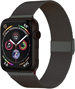 Pigetfy Compatible for Apple Watch Band 40mm 44mm Series 6, Series 5,Series 4,Series 3,Series 2,Series 1,Series SE and Wristband for Iwatch 38mm 42mm(Space Gray, 38mm/40mm)