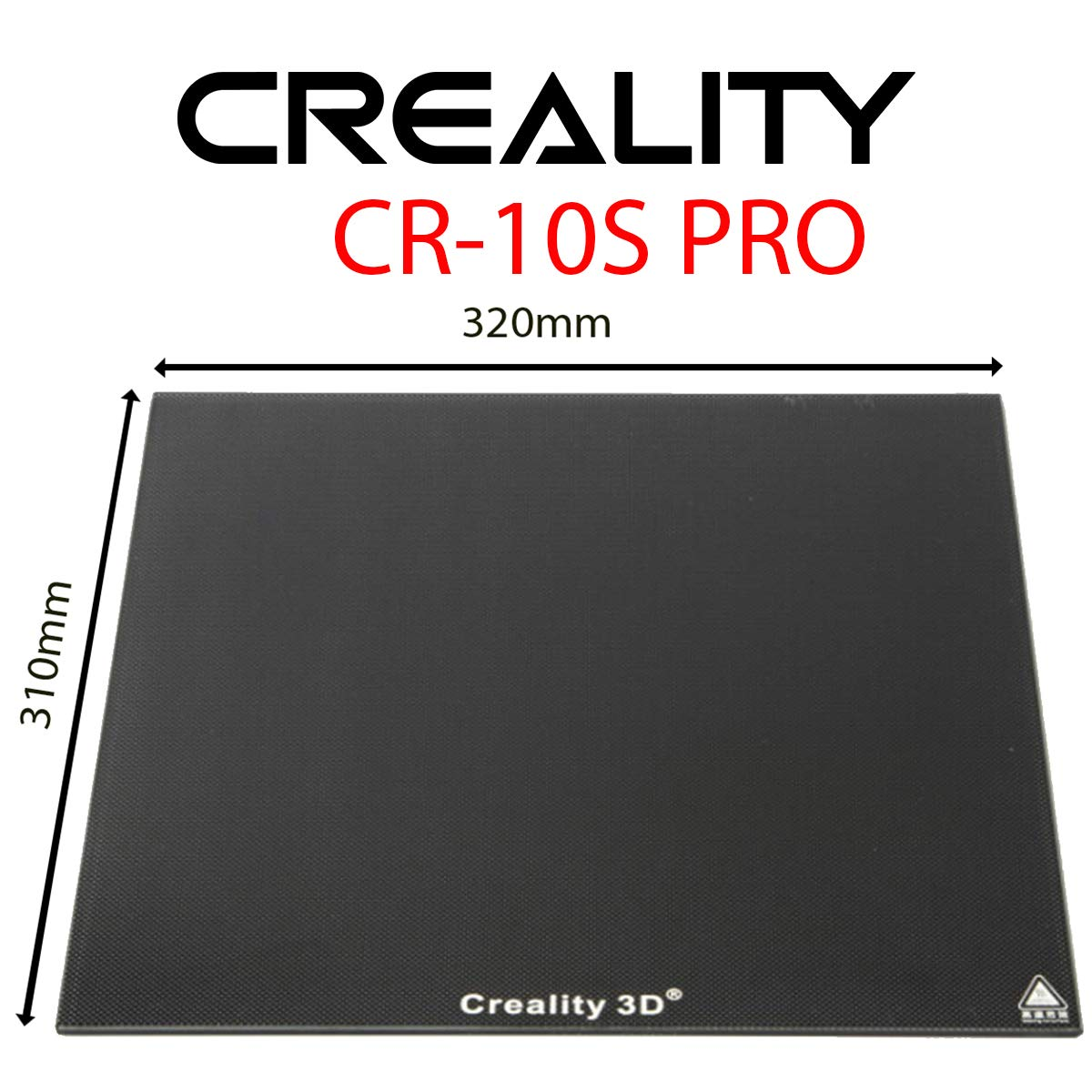 Tenlog Upgraded 3D Printer Borosilicate Glass Bed for Creality CR-10//CR-10S Pro//CR-10s Pro V2 Tenlog TL-D3 Pro,3D Printer Platform,3D Printer Glass Plate Build Surface 310x310x4mm