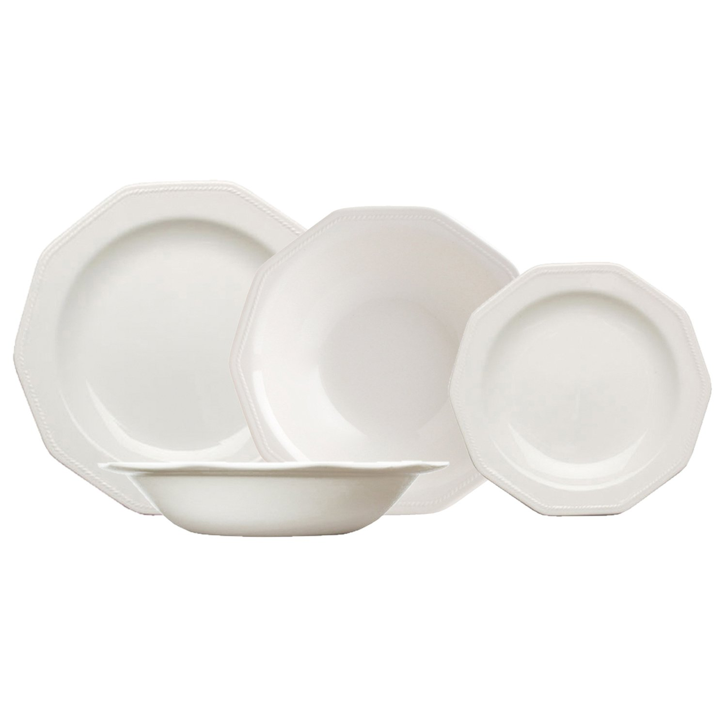 Churchill Artic White – Crockery Set, 19 Pieces Arc Distribución Ibérica