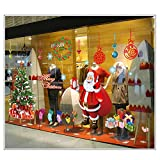Christmas Santa Claus Snowman Tree Window Door Wall Stickers Removable Mural Decal Sticker for Home Decoration