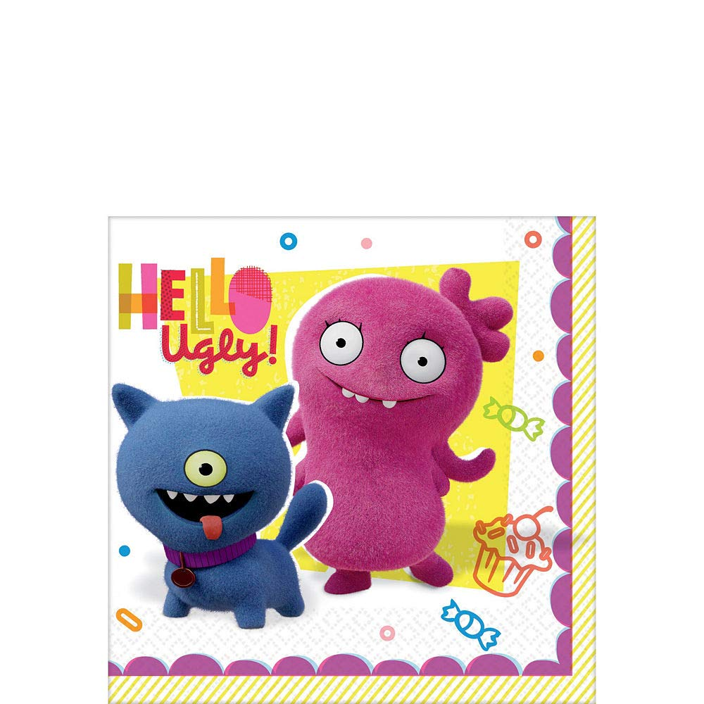 Adorable Ugly Doll Birthday Party Beverage Napkin Tableware Pack of 16 Paper