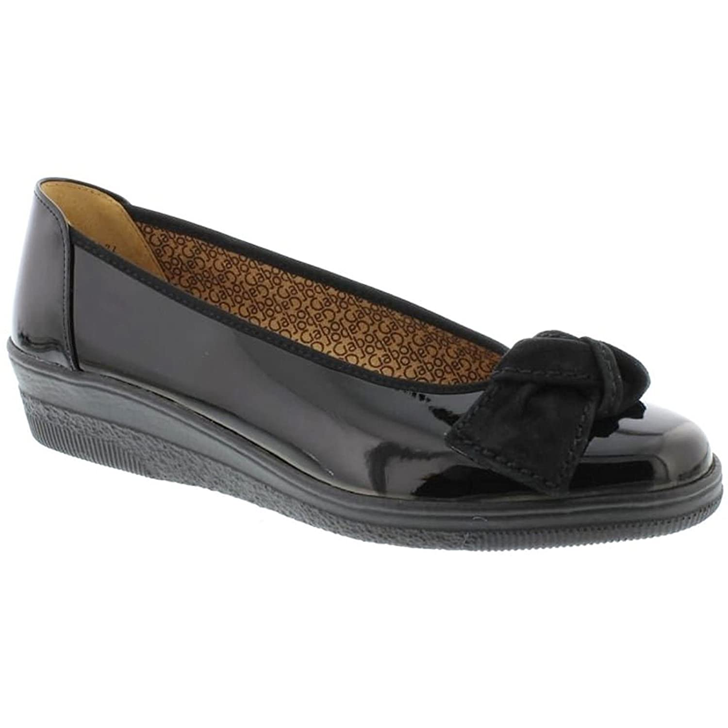 Gabor Womens Lesley 86.403.67 Patent Leather Shoes B078V5YW1D 7.5 B(M) US|Black
