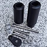 i5® Black No-Cut Frame Sliders for Kawasaki Ninja ZX6 ZX6R 2005-2006