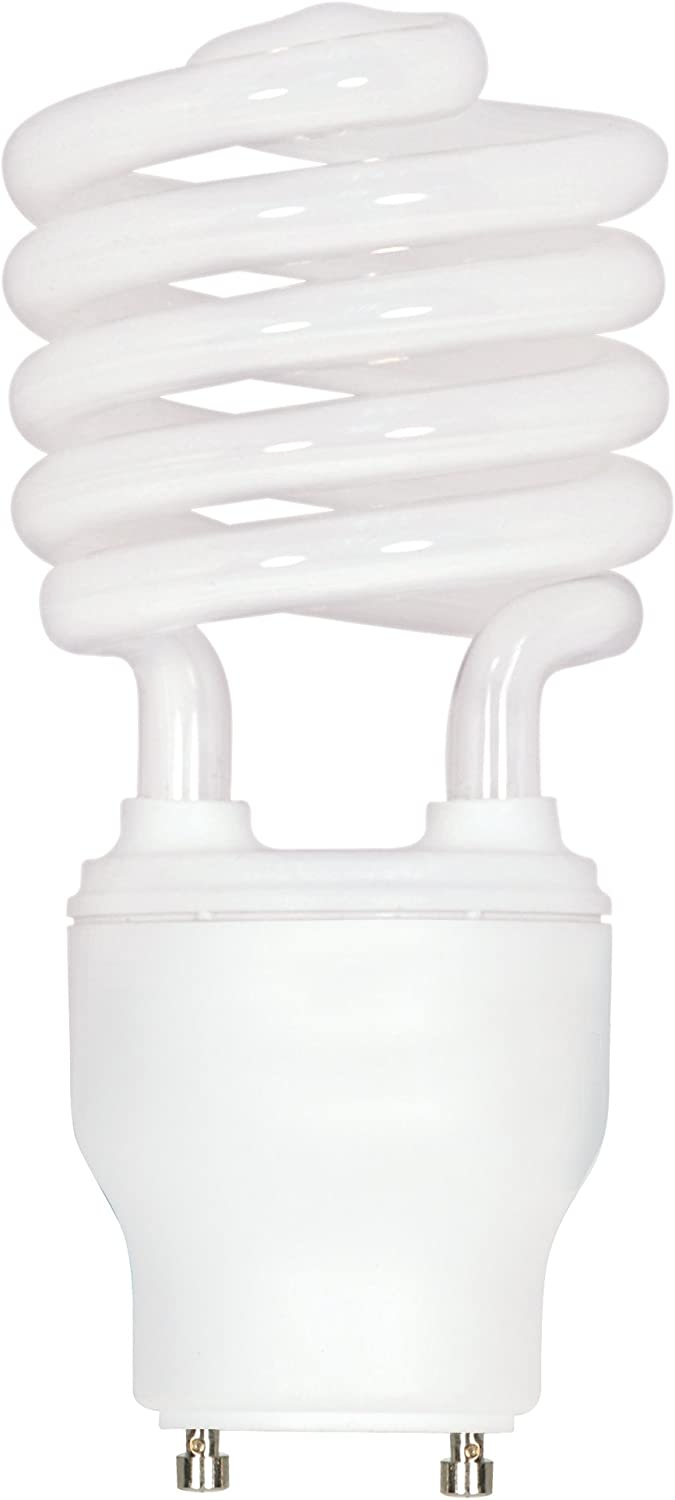 Satco S8206 23 Watt (100 Watt) 1600 Lumens Mini Spiral CFL Soft White 2700K GU24 Base Light Bulb