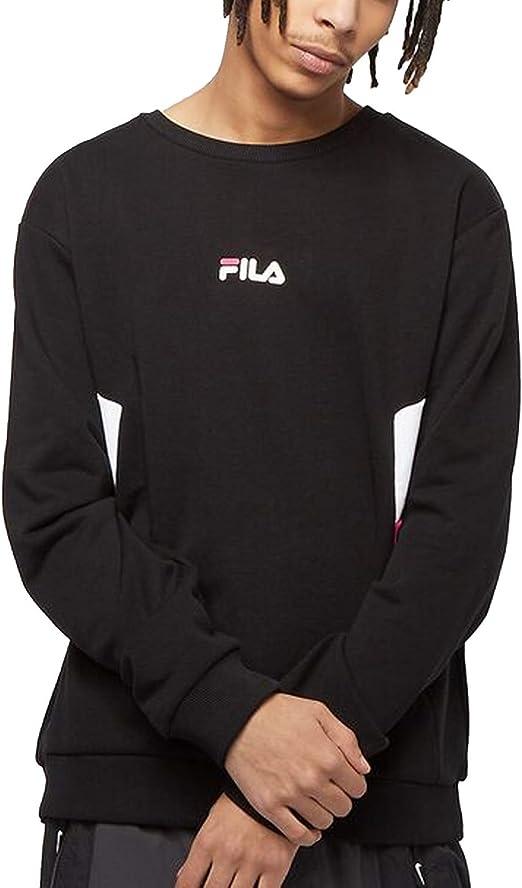 Fila Crew Sudadera negra para hombre 687481-A460 Negro XS: Amazon.es: Ropa y accesorios