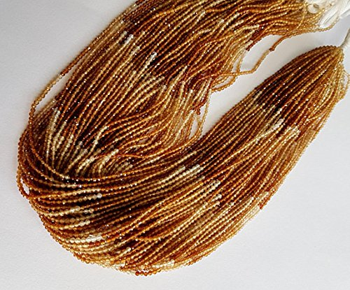 5 strand Shaded Hessonite garnet faceted balls beads 1.5 mm size balls 13.5 inch strand approx ()