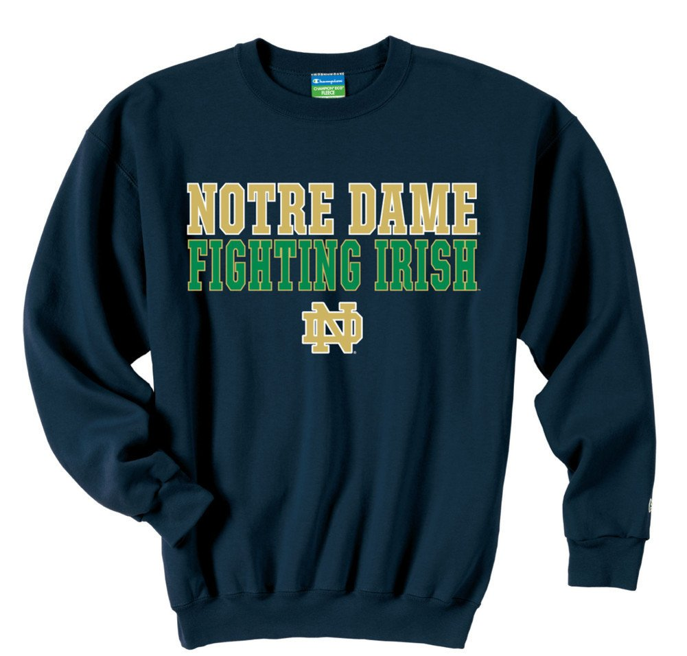 66fd1fc64a26f Amazon.com   Champion Notre Dame Fighting Irish Sweatshirt Fight Navy    Athletic Hoodies   Sports   Outdoors