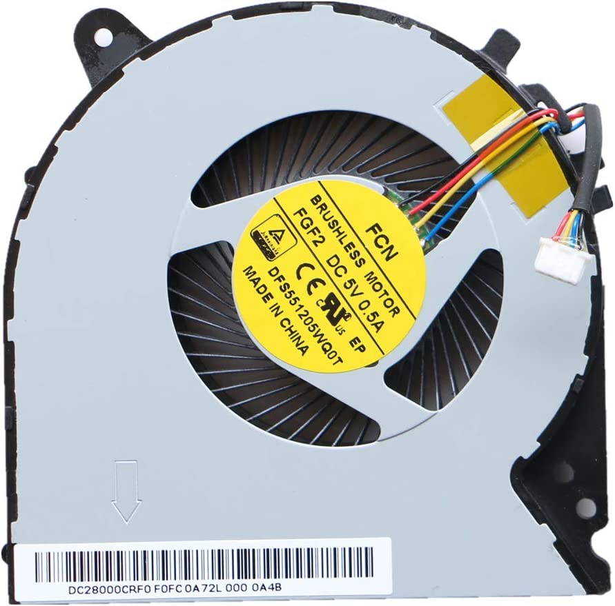 NBFAN Laptop Replacement Cooler Fan for Lenovo Y700-15ISK Y700-17ISK CPU Cooling Fan