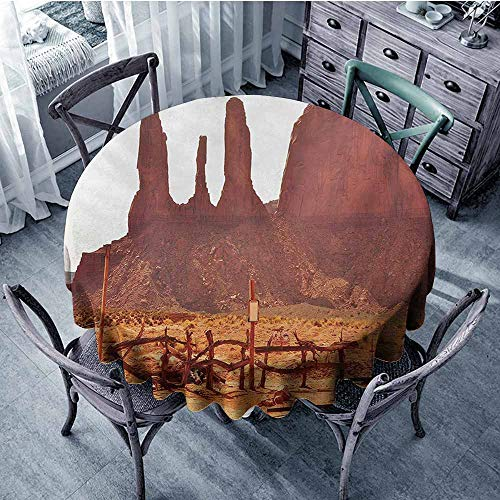 Sumilace Canyon Durable Tablecloth Scenic Archaic Monument Valley