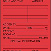 PDC Healthcare 59704610 Label Paper, Permanent, Medication Added, 2