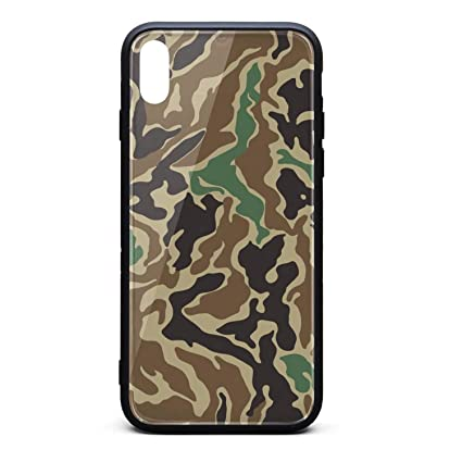 iPhone X/XS Case Green Force Camouflage Ultra Slim Case Shock-Absorption Bumper Cover