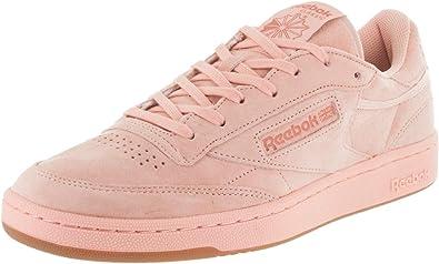 Reebok Club C 85 Tg Mens Pink Suede Low