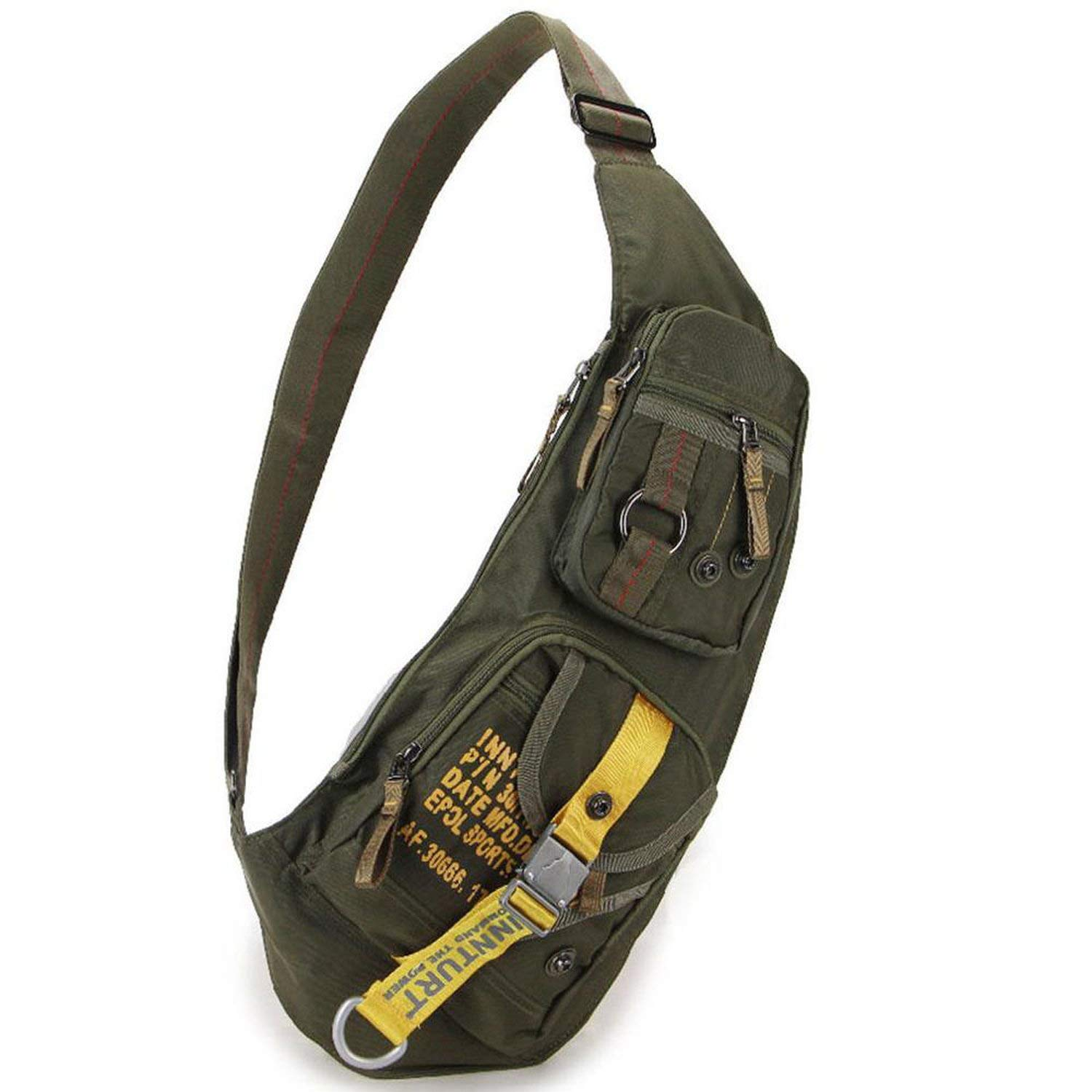 Waterproof Nylon Men Cross Body Messenger Shoulder Bag Riding Military Assault Male Sling Chest Day Back Pack