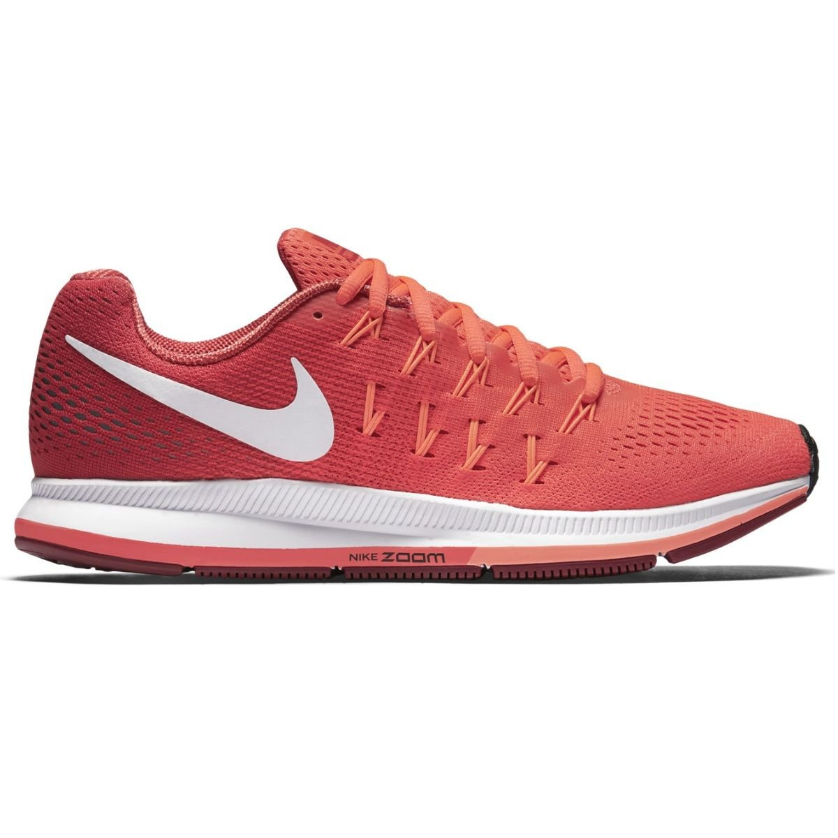 Nike Womens Air Zoom Pegasus 33 Running Shoe Bright Crimson/White/Gym Red/Bright Mango 8.5