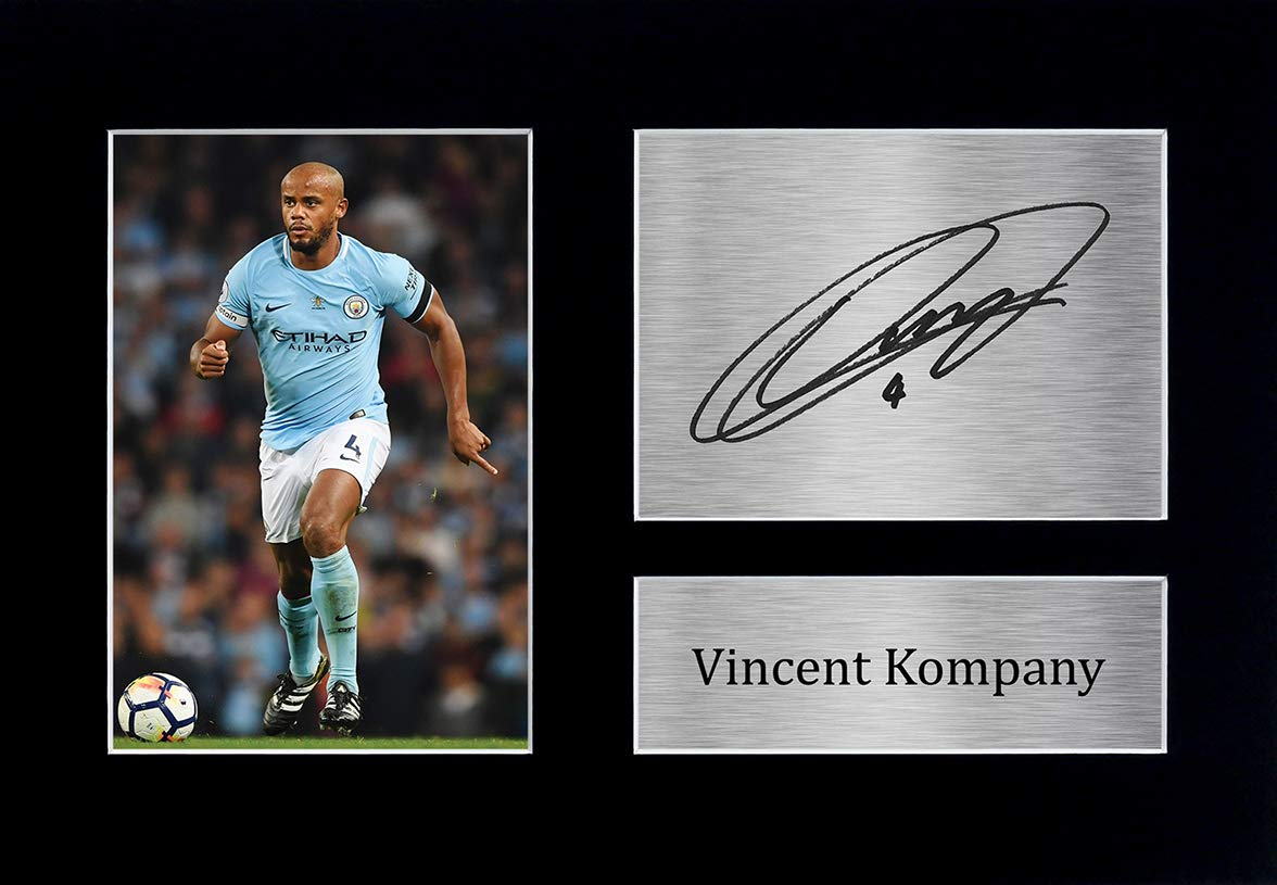 HWC Trading Vincent Kompany Gift Signed A4 Printed Autograph Manchester City Gifts Print Photo Picture Display