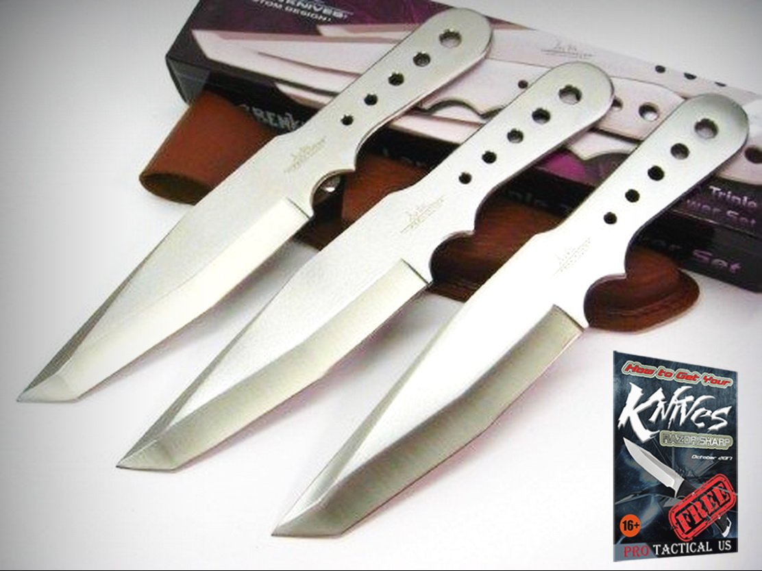 GIL HIBBEN Large THROWER Triple Throwing TANTO Knife Set 3 Knives GH5003 New! + free eBook by ProTactical'US by new (Image #1)