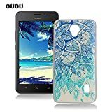 OuDu Silicone Case for Huawei Y635 Soft TPU Rubber Cover Flexible Slim Case Smooth Lightweight Skin Ultra Thin Shell Creative Design Cover - Blue Lotus