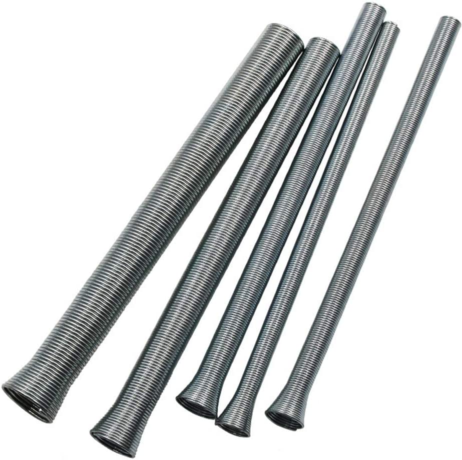 Dyda6 - Juego de 5 tubos de acero inoxidable para refrigerador de tuberías de 6 mm, 8 mm, 10 mm, 12 mm y 16 mm de diámetro, herramienta de mano, Plateado, Tamaño libre