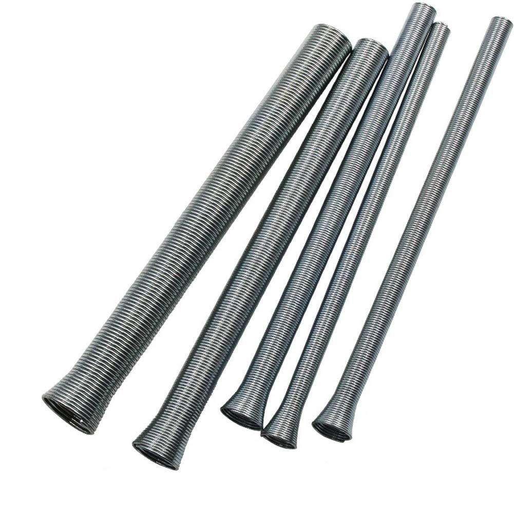 Plateado 8 mm Yzki 12 mm y 16 mm de di/ámetro 10 mm Tama/ño Libre Juego de 5 Tubos de Resorte para Tubos de Cobre y Aluminio Blandos de 6 mm