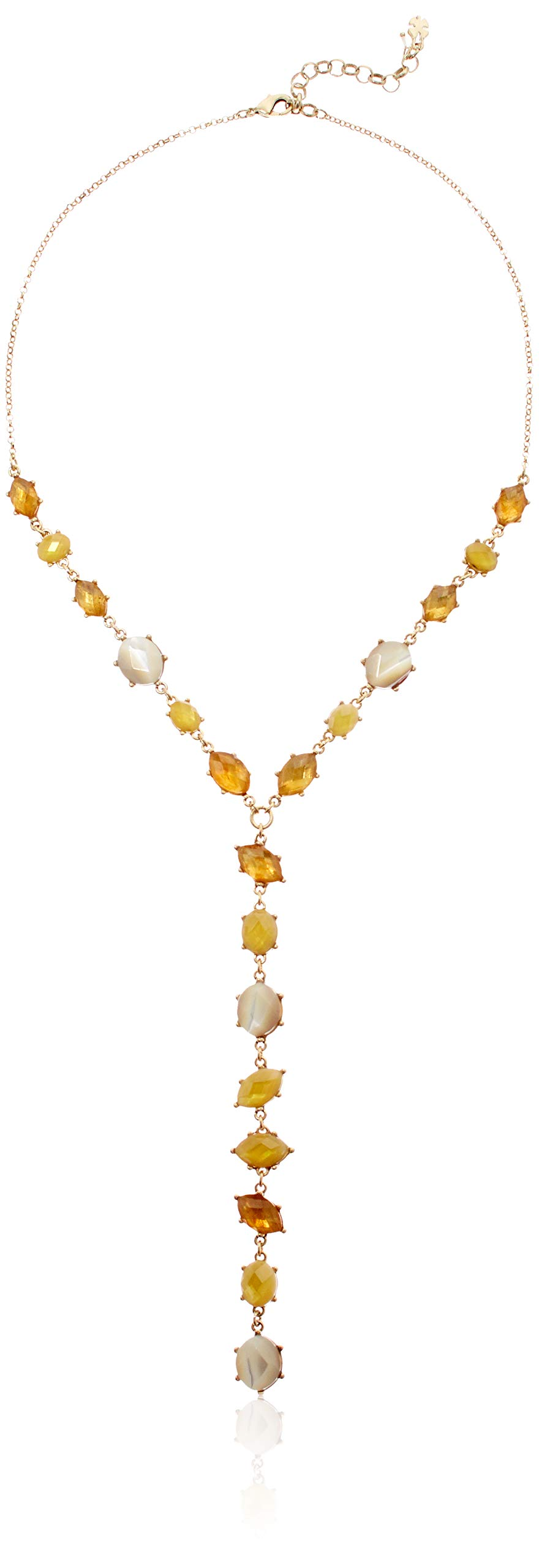 Lucky Brand Women's Multi Color Set Stone Y Necklace, Gold, One Size by Lucky Brand