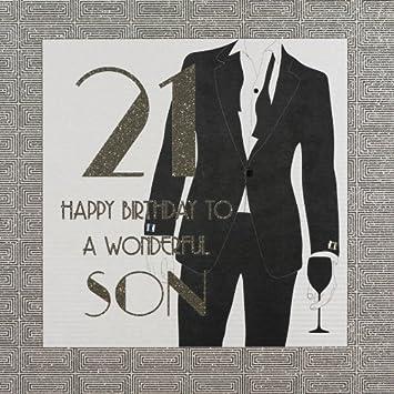 Son 21st Birthday Large Handmade Birthday Card Ga58 Amazon