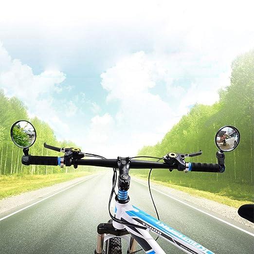 Espejo para bicicleta, 1 par ajustable rotación de 360°, flexibilidad para manillar de bicicleta, retrovisor espejo de bicicleta, retrovisor de gran angular, para bicicleta de carretera: Amazon.es: Hogar