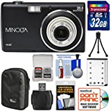 Minolta MN5Z 20MP HD Digital Camera (Black) with 32GB Card + Battery + Case + Tripod + Kit