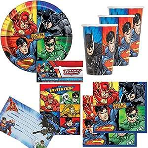 74 piezas Party * Justice League Super Héroes * con plato + ...
