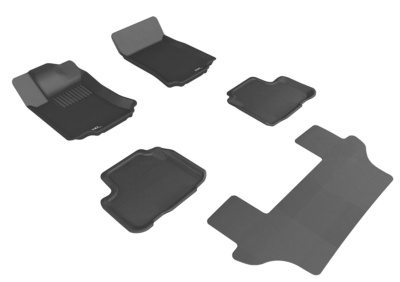 3D MAXpider Front Row Custom Fit All-Weather Floor Mat for Select Mercedes-Benz Models Gray Kagu Rubber L1MB04911501
