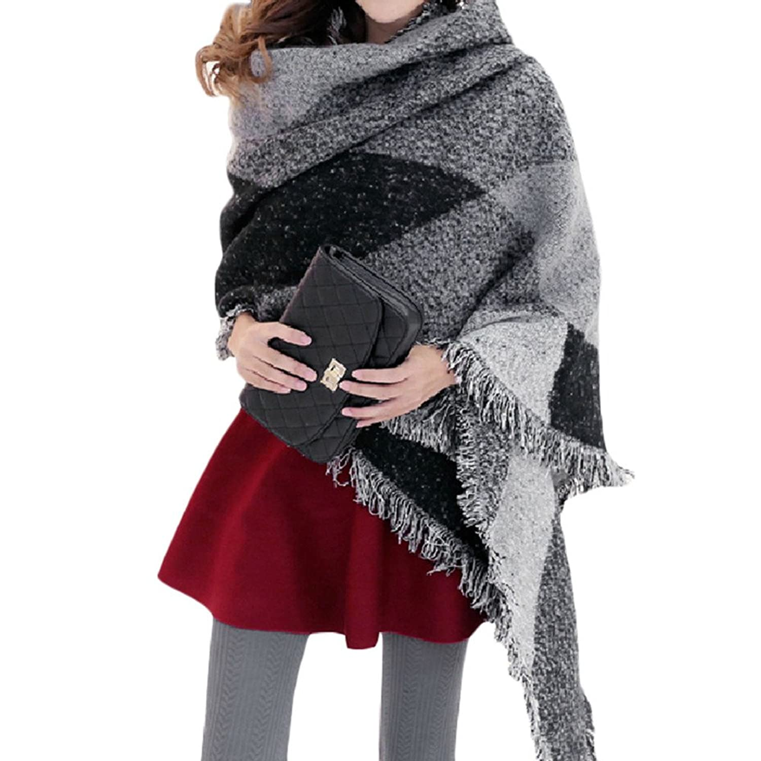 New Women Girls Blend Long Warm Scarves Soft Wrap Scarf Winter Warm Shawl