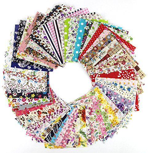 50pcs 10*10cm Fabric Patchwork Craft Cotton Material Batiks
