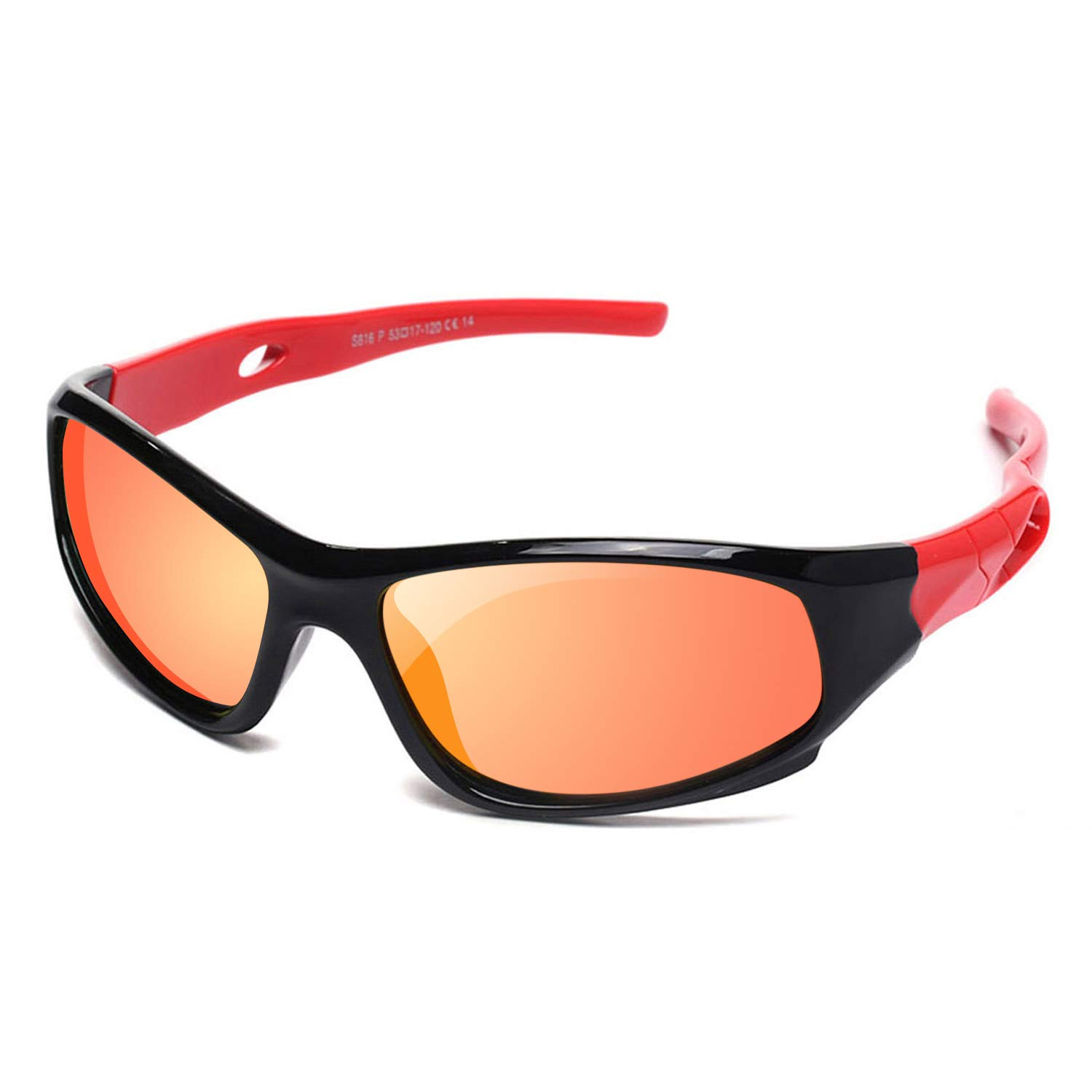 9d7ee9eb36f Amazon.com  YAMAZI Children Sports Polarized Sunglasses For Kids Boys Girls  Rubber Flexible Frame Sunglasses UV Protection (Black