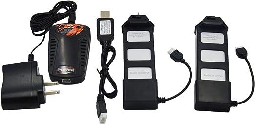 Cargador De Bater/ía Cable Y Adaptador De Carga para MJX F20 Bugs 5W Drone Accesorio