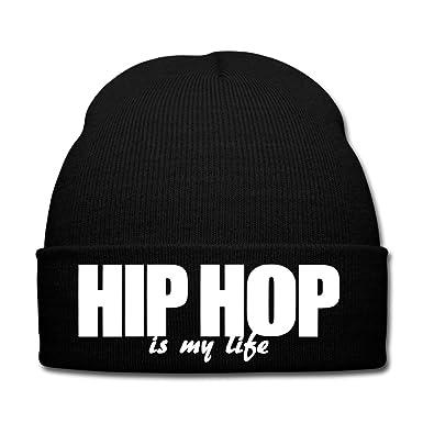 Spreadshirt Hip Hop Is My Life Bonnet d hiver, noir  Amazon.fr  Vêtements  et accessoires fe207783ca0