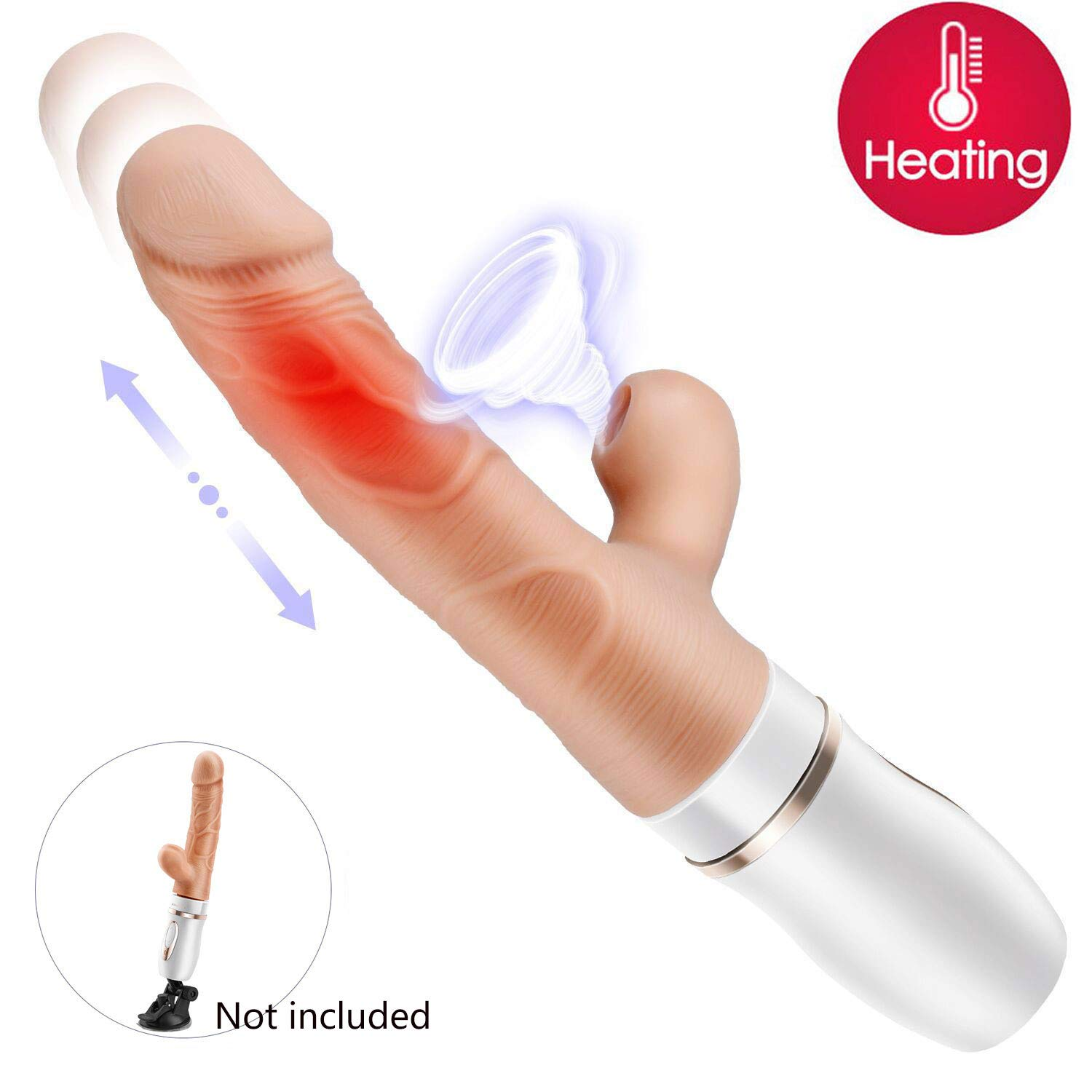 Heating Thrusting Sucking Vibrator G-spot Dildo with 10 Vibrating Modes 3 Thrusting Speed Imitating Oral Sex Movements of a Lover, EROCOME Clit Nipples Stimulator Massager for Women or Couple Fun