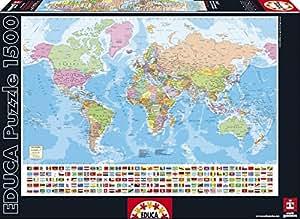 Educa Borrás 15317 - 1500 Mapa Del Mundo