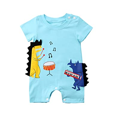 e4612b698be1 Newborn Infant Baby Boy Girl Jumpsuits Feather Print Leggings Romper  Outfits (70(0-