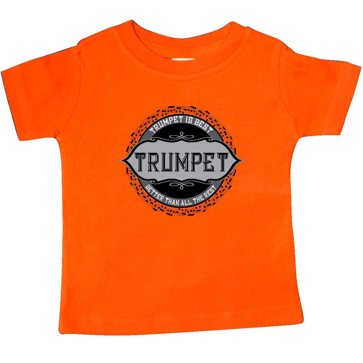 inktastic Trumpet Best Music Note Circle Baby T-Shirt