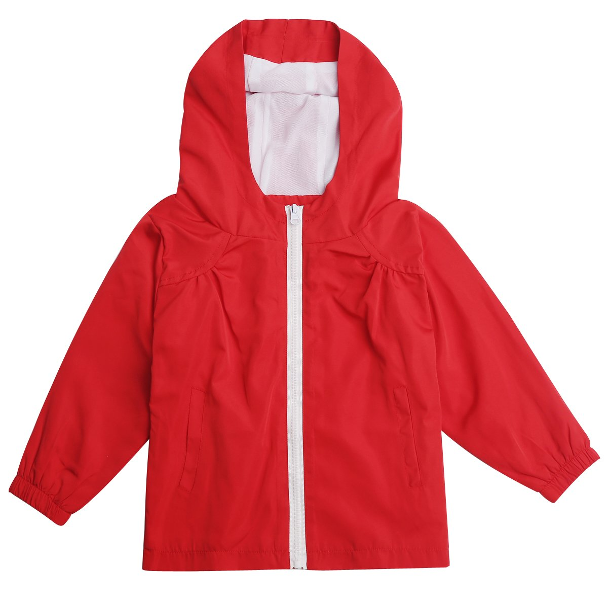 STIME Children's Boys Girls Waterproof Raincoat Jacket with Hooded SC001