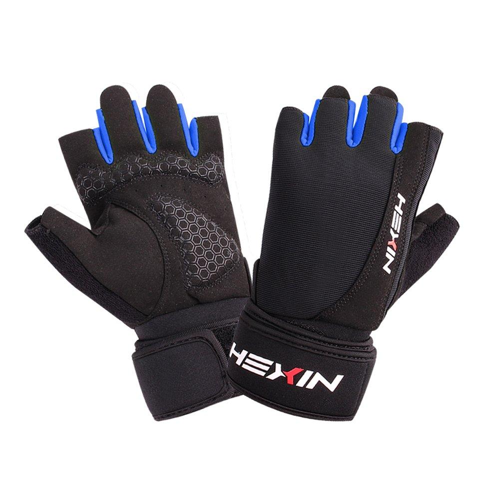 hexin levantamiento de pesas guantes con muñequeras para 17