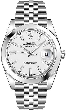 Rolex Datejust 41 Montre pour Homme Oystersteel Cadran Blanc sur ...