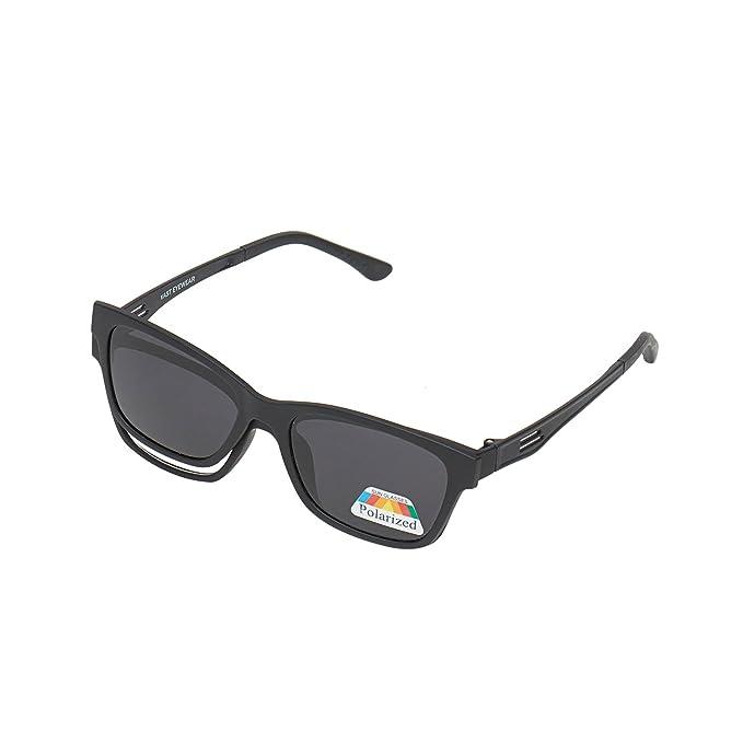 e5278e925bd Vast Rectangular Unisex Polarized Magnetic Clip On Sunglasses Plus  Spectacle Frame(Clipon P005 Black