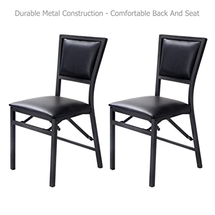 Amazon.com - Modern Design Folding Dining Chair Metal Frame ...