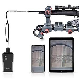 Rigid Rifle Borescope for iPhone, Teslong WiFi Close Focus Gun Barrel Bore Scope Videoscope Inspection Camera with WiFi Box, 0.2inch Diameter & 26inch Long Insertion Tube for iPhone iPad Android