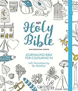 NIV Journalling Bible For Colouring In With Unlined Margins And Illustrations To Colour