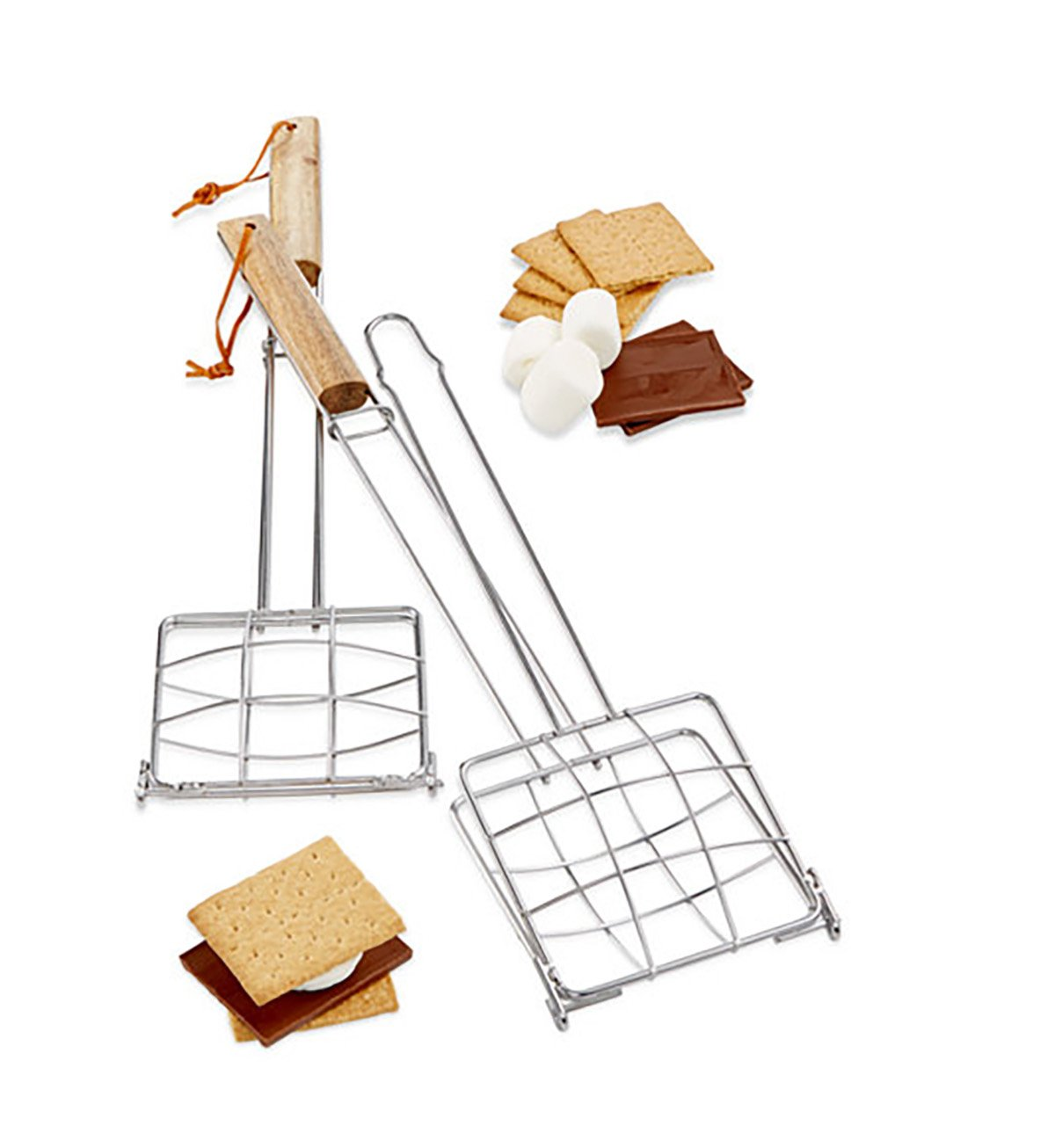 Refinery Durable 2PC S'Mores Basket Griller Silver O/S